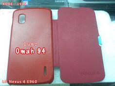 Kode Barang 1935 Jual Flip Cover Case Google LG Nexus 4 E 960 Merah (Red) | Toko Online Rame - rameweb