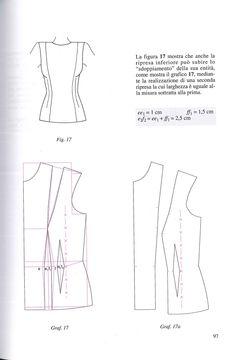 interventi sulle riprese, modo sedici Pattern Making Books, Dress Making Patterns, Easy Sewing Patterns, Clothing Patterns, Sewing Tutorials, Sewing Class, Sewing Studio, Sewing Pants, Corset Pattern