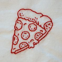 Paperfolk paperfolk loves yumiko higuchi embroidery for Space pizza fabric