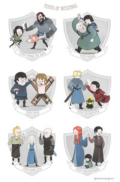 The Teams of Westeros Art Print.. i want :D