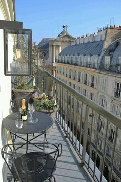 This Balcony in Paris is small.but, oh so cute! Very good use of a small space This Balcony in Par Apartment Balconies, Paris Apartments, City Aesthetic, Travel Aesthetic, Little Paris, Belle Villa, Dream Apartment, Parisian Apartment, Parisian Cafe