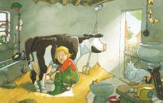 Praatplaat koeien melken