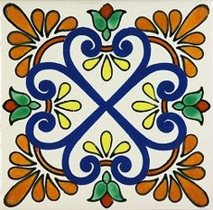 Mexican, Spanish Ceramic Tile Mural Designs & Hand Painted Sink