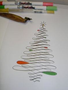 A Place To Flourish: Flourish Friday - Calligraphy Christmas Tree