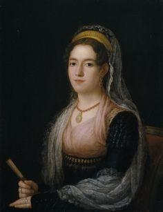 Agustín Esteve y Marqués, portrait de femme, vers 1815.