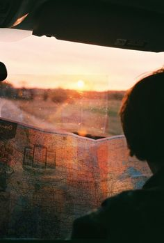 on the road with a map - what could be better? itching for a big trip