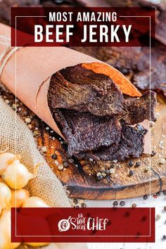 The Most Amazing Beef Jerky is so easy to make and produces the most delicious beef jerky ever. We've included instructions for the dehydrator, smoker, and oven!