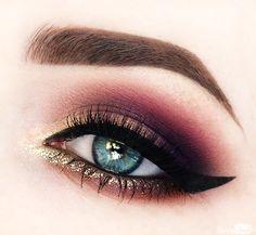Instagram Makeup Dairy 3 Glitter Gold Purple Sultry Eye
