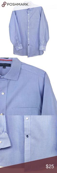 NWT Tommy Hilfiger Button Down Dress Shirt Regular Fit w//Pocket Size 15.5 32//33