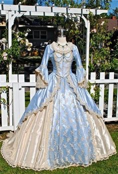 Maria's ball gown on the first ball with Lieutenant General Lord Cornwallis.