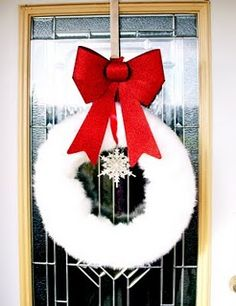 furry christmas wreath