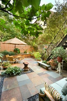 Everything garden on this website. It says over 5000 photos. Fencing, decking, patios, planter, everything.