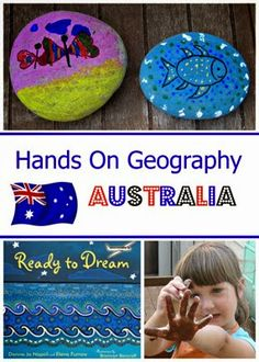 Hands On Geography – Australia A mini country study for Australia with book suggestions, aboriginal art project and additional activity resources. Geography Activities, Teaching Geography, Educational Activities, Teaching Kids, Kids Learning, Activities For Kids, Hands On Geography, Geography For Kids, World Geography