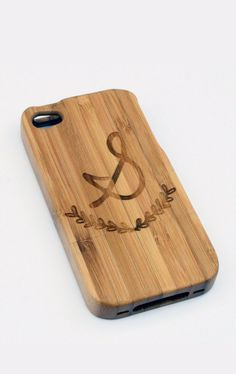 Custom Bamboo Initial iPhone Case