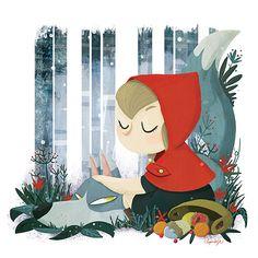 caperucita roja ilustraciones - Buscar con Google