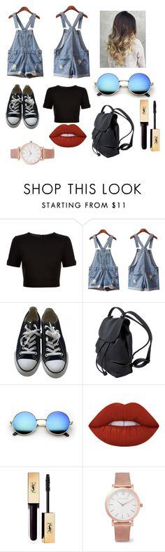 """just cool"" by reggaeoutfit ❤ liked on Polyvore featuring Ted Baker, Isadora, Converse, Lime Crime and Larsson & Jennings"
