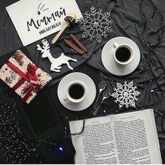 Зимняя раскладка. Идея фото для инстаграм, вдохновение, настроение, уют #фото #настроение #зима #вдохновение