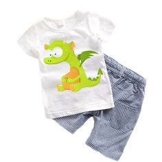 Suit Baby Boy Clothes Children Summer Toddler Boys Clothing set Cartoon 2017 New Kids Fashion Cotton Cute Animal Sets Boys Summer Outfits, Toddler Boy Outfits, Toddler Boys, Baby Kids, Kids Outfits, T Shirt And Shorts, Kids Shorts, Baby Boy Clothing Sets