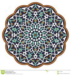 Buy Arabic Circular Pattern by paulrommer on GraphicRiver. Arabic circular pattern over white background in editable vector file Vector Pattern, Pattern Art, Pattern Design, Islamic Art Pattern, Islamic Motifs, Arabic Pattern, Persian Pattern, Iranian Art, Circular Pattern