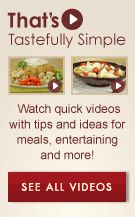 See the That's Tastefully Simple Videos!