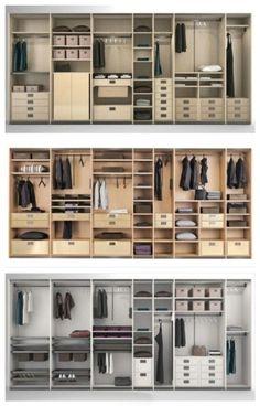 衣柜的各种格局,留着备用吧!