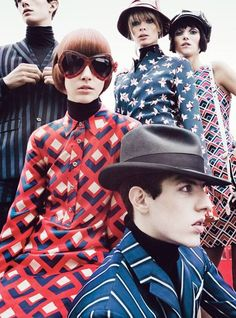 60s mod fashion copycats...nothing's better than the real thing...