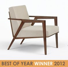 * drum roll please.one of our brands, Holly Hunt's Odense Chair wins the 2012 Interior Design BEST OF YEAR Award for Seating! Hanging Swing Chair, Swinging Chair, Diy Chair, Sofa Chair, Fine Furniture, Sofa Furniture, Contemporary Interior Design, Interior Design Living Room, Industrial Dining Chairs