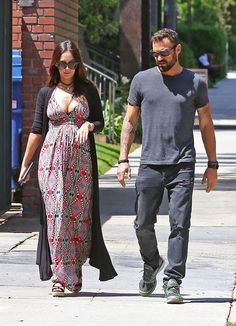 Megan Fox and Brian Austin Green in LA After Pregnancy News | POPSUGAR Celebrity