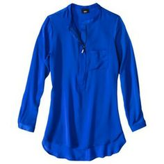 Mossimo® Womens Long Sleeve Solid Tunic Top - Assorted Colors - M