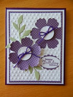 Dianne's cards- SU Happiest Birthday Wishes sentiment Petite Pairs