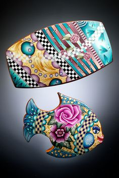 Barrettes - polymer by dixie103, via Flickr