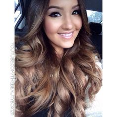 """Bellami Hair Extensions in Chestnut! Love!! Use Code """"Beautybox"""" for a discount #ombrehair"""