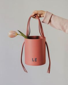 Monogram Painting, Smythson, Calf Leather, Bucket Bag, Calves, Blush, Reusable Tote Bags, Hand Painted, Accessories