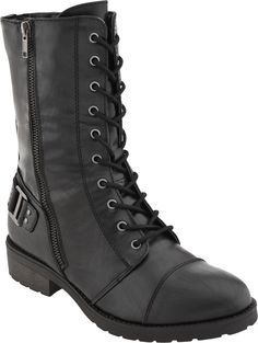White Mountain Fiord- on sale for $49 #combatboots #steal #holidaywishlist @PlanetShoes