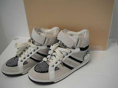 Michael Kors  Fulton White Suede High Top Sneakers New Womens Shoes