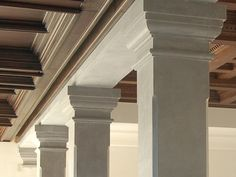 Stone columns and pillars.The Stone Gallery Marbella. #piedranatural #marblecolumns #hollowedcolumns