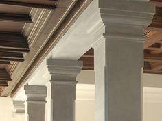Stone columns and pillars.The Stone Gallery Marbella. #piedranatural #marblecolumns #hollowedcolumns