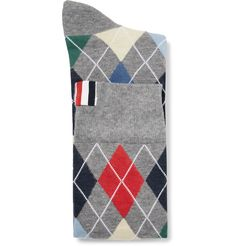 Add some personality to suited looks with <a href='http://www.mrporter.com/mens/Designers/Thom_Browne'>Thom Browne</a>'s colourful argyle socks. Intarsia-knitted in the UK from a lightweight cotton-blend, they'll make an appearance each time you sit down.