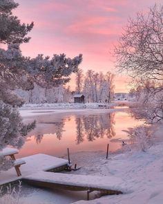 Winter lake #lake #winter #snow