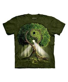 Green Yin-Yang Tree Tee
