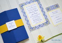 Talavera Tiles/Pottery/Porcelian Wedding por WhoaNelliePress