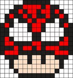 Pixel Art Templates, Perler Bead Templates, Diy Perler Beads, Melty Bead Patterns, Perler Patterns, Beading Patterns, Easy Pixel Art, Perler Bead Mario, Pony Bead Crafts