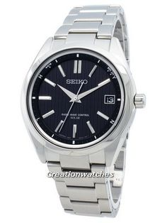 Stainless Steel Case and Bracelet, Solar Movement,  Caliber: 7B24, Black Dial, Overcharge Prevention, Time Difference Adjustment Function, Against Allergy To Metal. Radios, Stainless Steel Bracelet, Stainless Steel Case, Seiko 5 Military, Precision Casting, Seiko Solar, Radio Wave, Seiko Automatic, Seiko Men