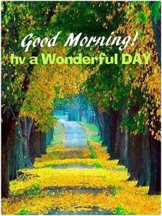 Good Morning....a wonderful day everyone!