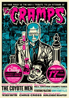 The Cramps - gig poster    It's the Re-animator cover! Love this!