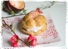 Mousse au chocolat et fruits de la passion accompagnée d'un chou framboise © Popote et Nature