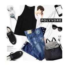 """Music!"" by magdafunk ❤ liked on Polyvore featuring Raquel Allegra, Monki, Dsquared2, Converse, Yves Saint Laurent, Frye and PolyvoreEarbudContest"