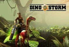 The browser based game Dino Storm takes you into a deserted town in the core of the United States in a fantasy world where both humans and dinosaurs co-exist. Dino Storm is a massively multiplayer online game featuring rich 3D graphics and intricate game details, as well as a quirky storyline. | http://dino-storm.browsergamez.com/