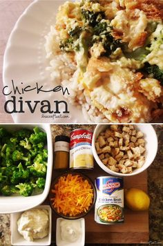 Easy Chicken Divan Recipe (one of my all time fav meals growing up.) I also like… Easy Chicken Divan Recipe (one of my all time fav meals growing up.) I also like to make it with stuffing on top instead of bread crumbs sometimes, very good 😀 Chicken Divan Recipe Easy, Chicken Divan Casserole, Chicken Divan With Rice, Casserole Dishes, Easy Weeknight Dinners, Easy Meals, Healthy Dinners, Turkey Recipes, Salads