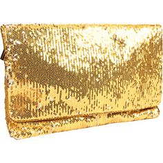BCBGMAXAZRIA BRUSHED SEQUINS OVERSIZED CLUTCH